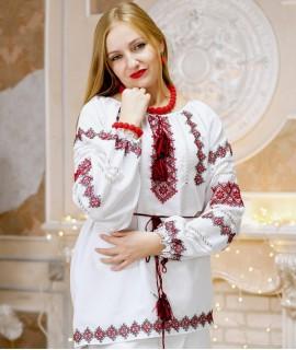 Женская вышиванка  Кружево (ручная вышивка)