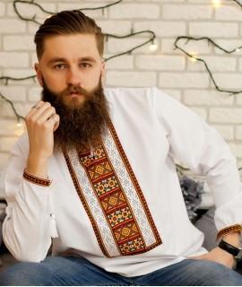 Мужская вышиванка Козацкая (ручная вышивка)