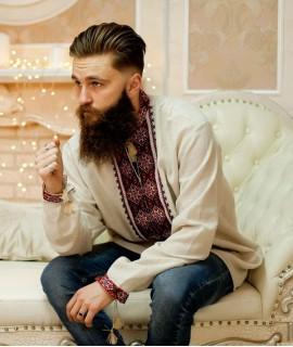 Мужская вышиванка Рождественская (ручная вышивка)