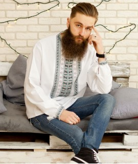 Мужская вышиванка Гетьман (ручная вышивка)