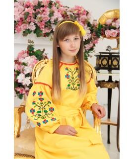 Вышитое платье Солничное