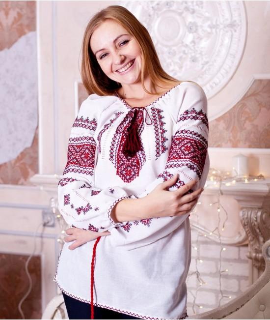Женская вышиванка  Орнамент  (ручная вышивка)