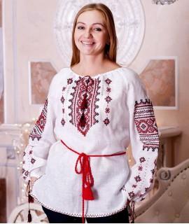 Жіноча вишиванка Традиція (льон, ручна вишивка)