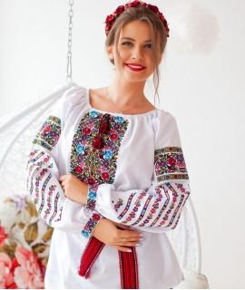 Женская вышиванка  Бойкивские цветы