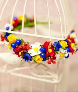 Ободок ручной работы Полевые цветы