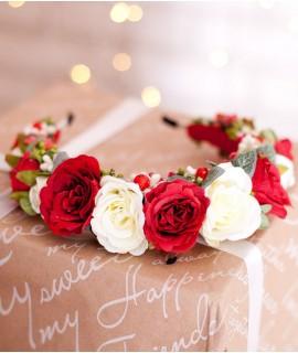 Обруч ручной работы Розовый сад