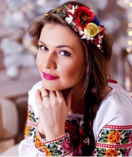 Ободок ручной работы на лозе Украинский