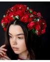 Ободок с цветов Пионы